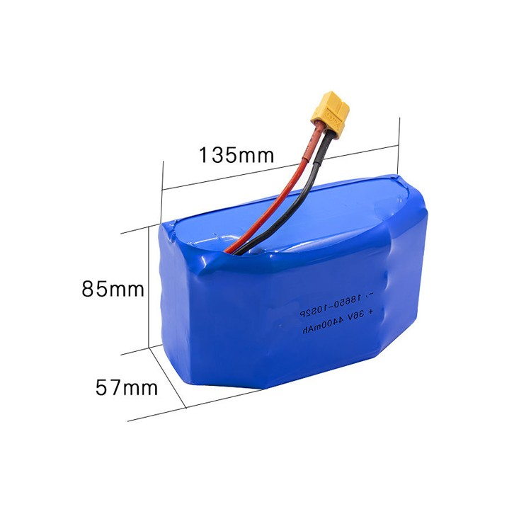 36v 4400mah lithium ion battery pack for balance car