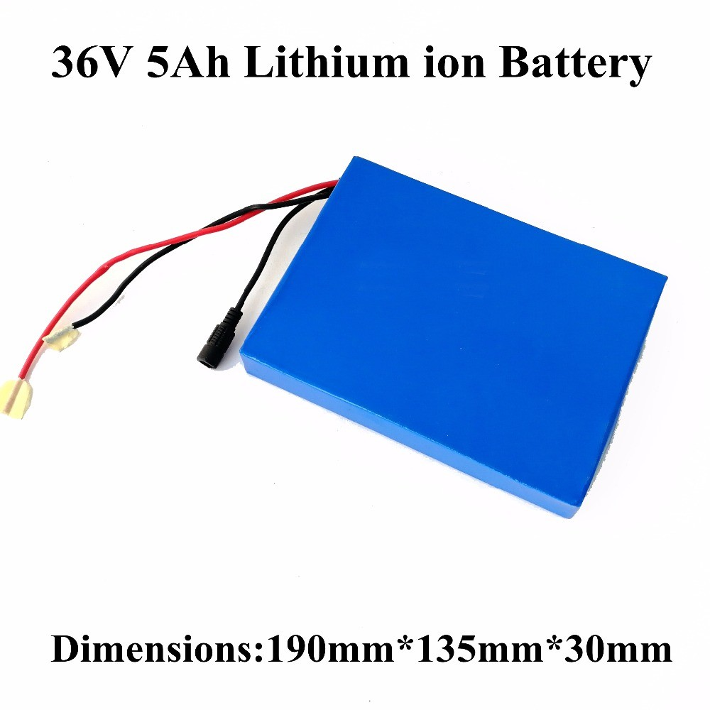 Lithium ion battery pack 36v 5ah  for electric skateboard